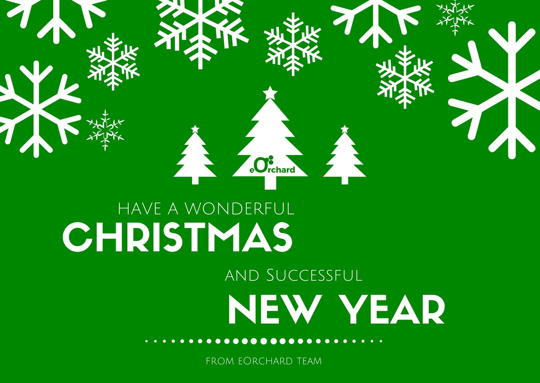 eOrchard wish you Merry Christmas and Happy New Year
